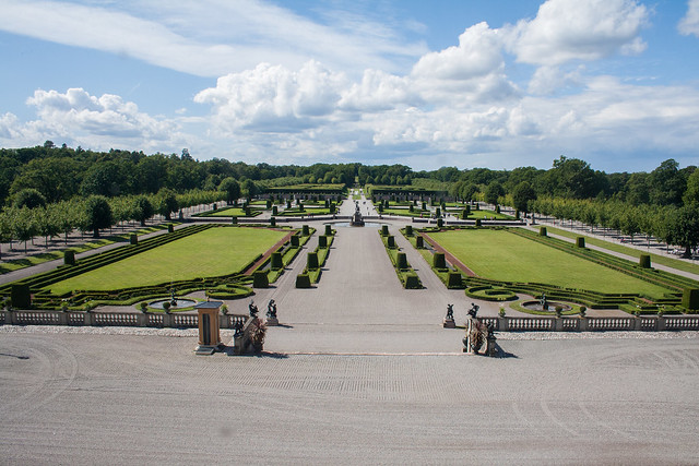Drottningholm Palace gardens from the palace