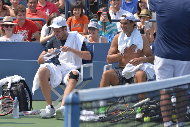 Rafael Nadal and Mardy Fish
