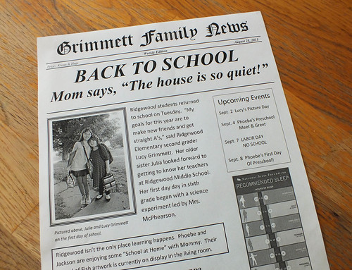 Our Weekly Family Newspaper