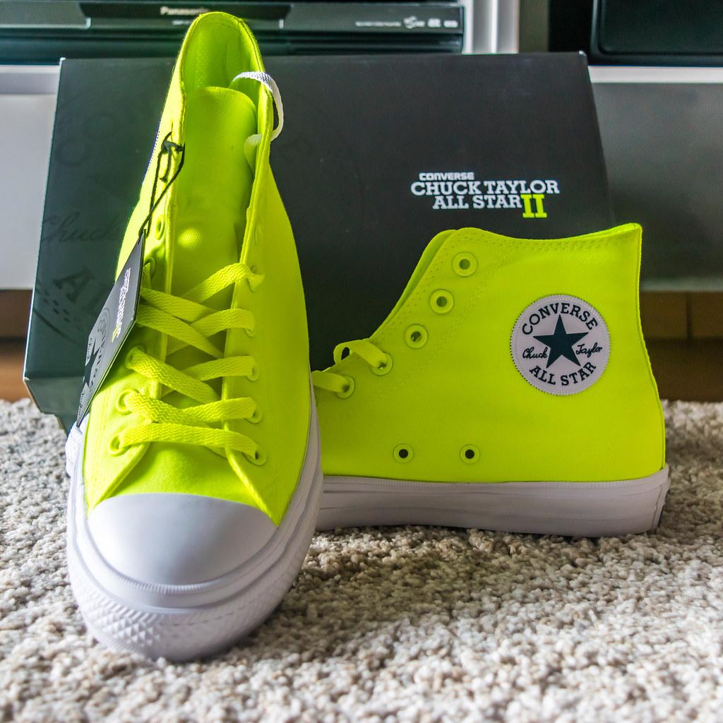 19cd4d04ea99 My new Converse Chuck Taylor All Star II Volt Green Limite…