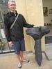 Henrik with the actual sculpture