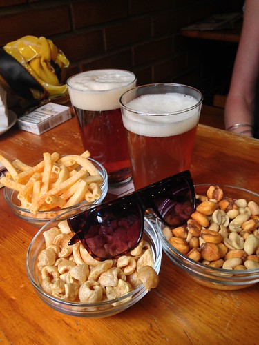 Beer and tapas.