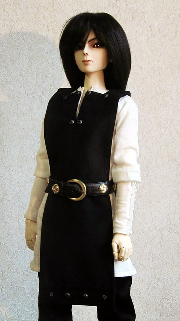 The costume in medieval style.