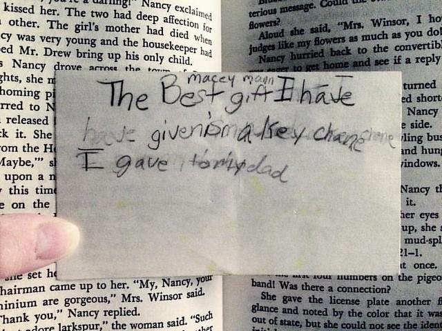 Found in the book I'm reading #readathon #deweysreadathon #books #found