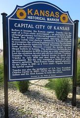 Capital City of Kansas Marker (Topeka, Kansas)