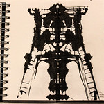 Winding tower ink sketch