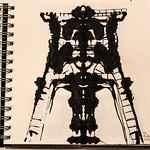 Winding tower ink sketch