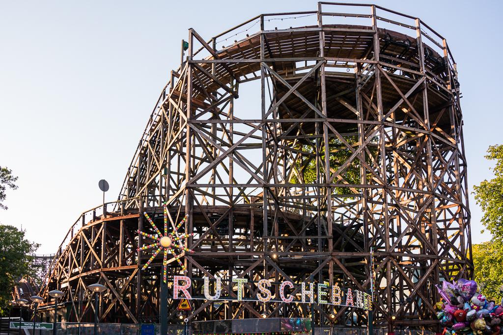 Bakken - wooden roller coaster