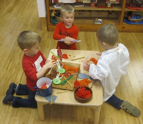 orange scented orange play dough