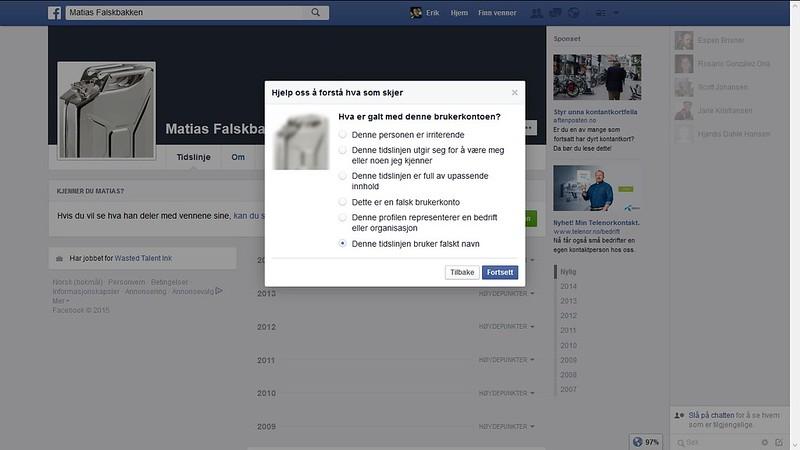 klage til facebook