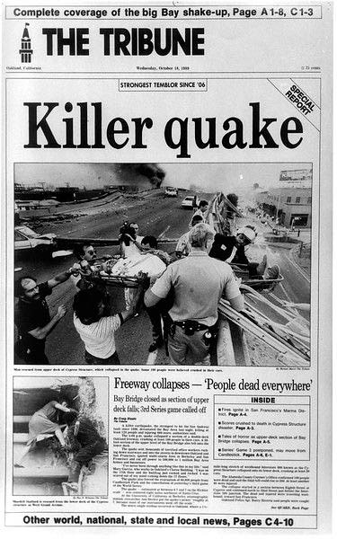 Newspaper release of disaster.