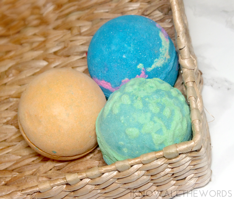 Lush #Bathart Yoga Bomb, Intergalactic, and Guardian of the Forest Bath Bomb (2)