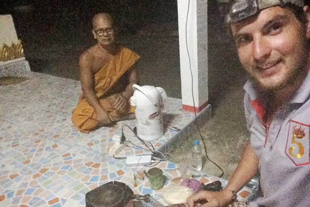Spending the night in a Thai temple