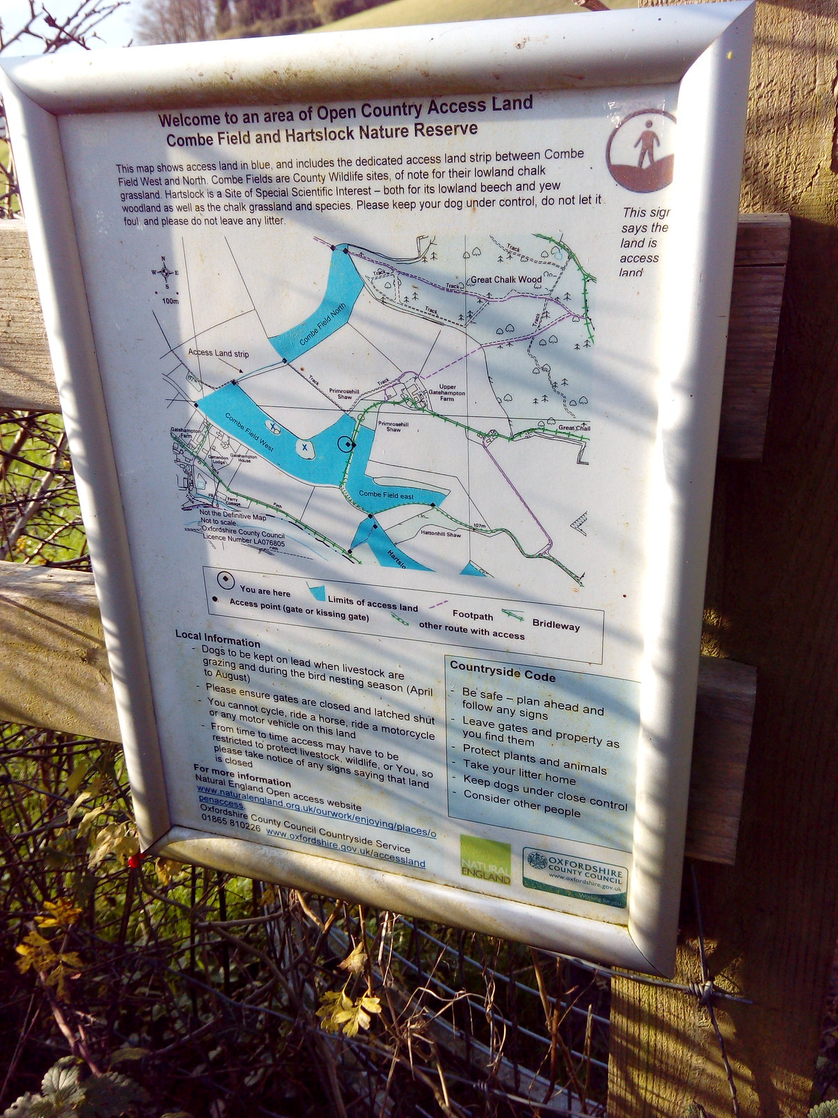 Hartslock Nature Reserve Map