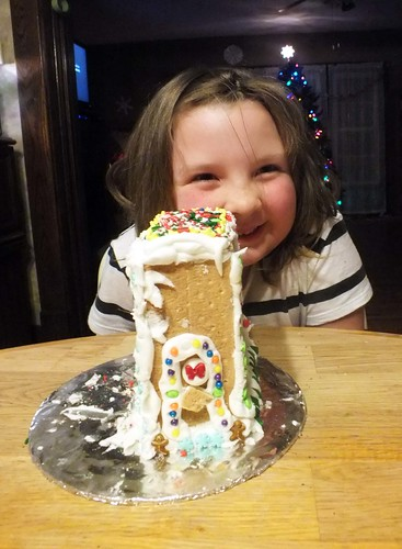 Lucy and her gingerbread house