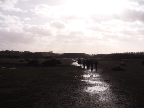 Greenham Common Track, towards Cruise Missile Bunkers
