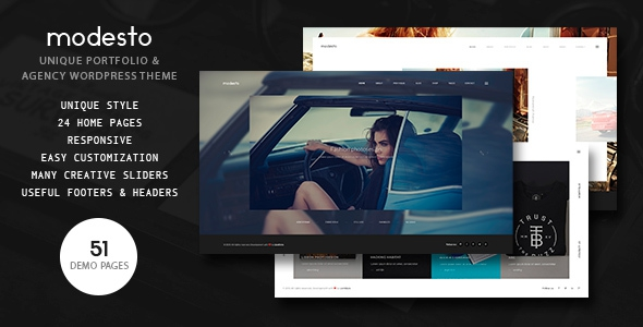 Modesto v1.2 - Portfolio, Photography, Agency Powerful WordPress Theme