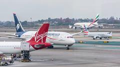 A320, B788, E175, A380 (LAX)