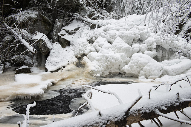 Frozen river.
