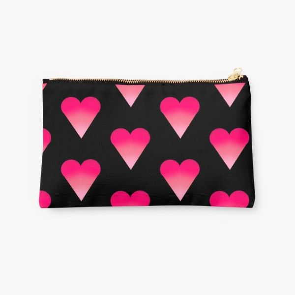 Studio Pouch - heart in black