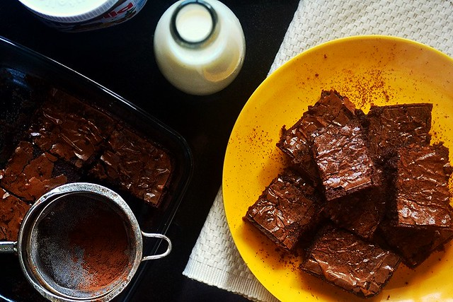 Nutella Brownies | The Heavenly Hearth