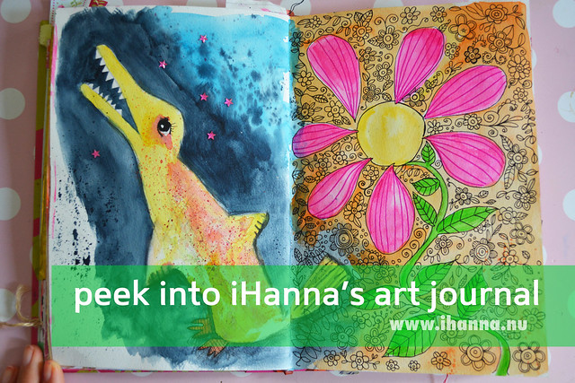 Art Journal Peek: Dark Nightmares vs. Summer Light