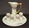 Lovely Hand Painted Edwardian Era Haviland Limoges Pitcher Tumblers and Tray by babyfella2007