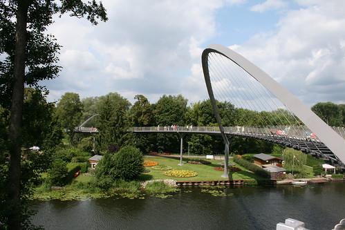 Blick auf die Verbindungsbrücke in Rathenow