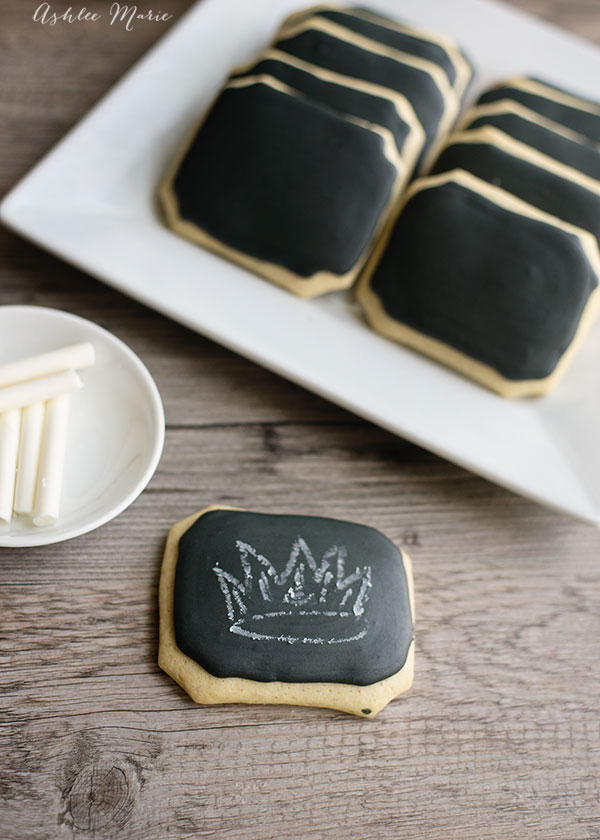 these chalkboard cookies and edible chalk were a huge hit at our high school disney descendants party, easy to make and fun to eat