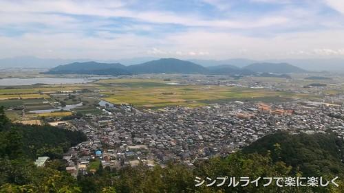 頂上、近江八幡市街の風景