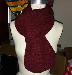 #nowavailable burgundy scarf $15 #handmade #crochet #crochetersofinstagram #forsale #blackownedbusiness #scarfseason