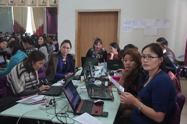 Teachers in ICT training
