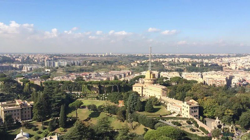 View of north side of Vatican.