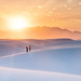 White Sands At Sunset by Stuck in Customs