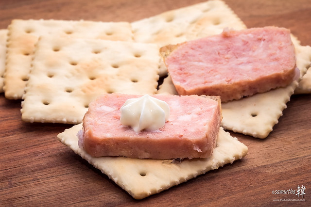 Kelly's Luncheon Meat & Meiji Saltine Crackers