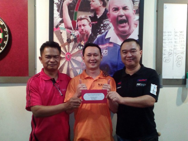 Nayu Cafe & Dart 2nd Double Competition 2015. Runner-Up D'Mangga Ramli & John.