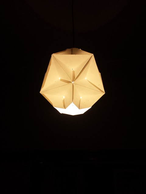 Great dodecahedron lightshade