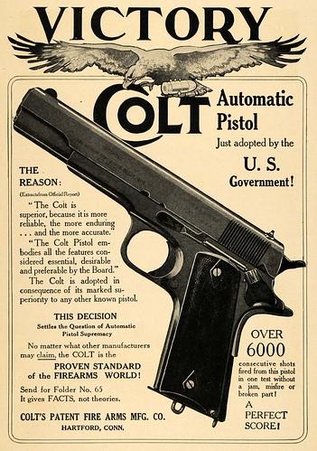 Vintage Colt Poster - M1911 .45 Pistol