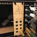 first homemade Eurorack module now completed with Ponoko woodcut panel. by Matt Biddulph