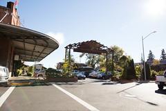 Parking lot at Napa River Inn