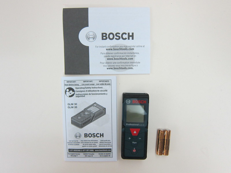Bosch GLM 35 Laser Measure - Packaging Contents