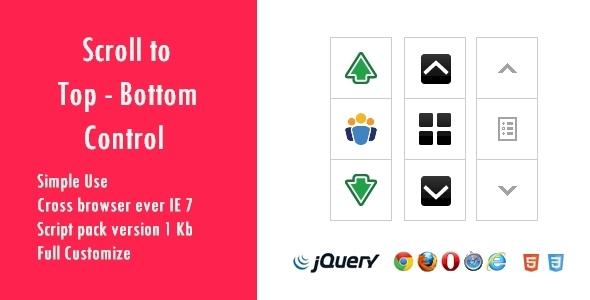 CodeCanyon Scroll to Top - Bottom Control v1.0