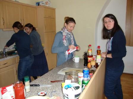 príprava šalátu