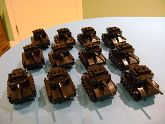 Army of Lego mini tanks