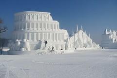 Čínský Vasův běh a krásné sochy ze sněhu