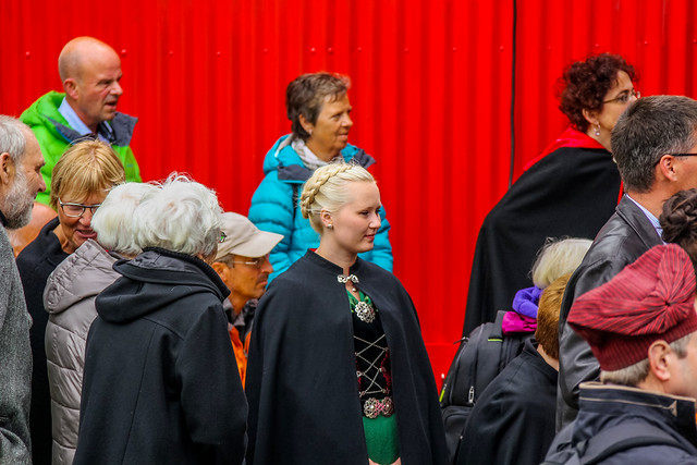 People at Ólavsøka / Ólafsvaka in Tórshavn, Faroe Islands