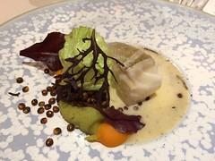 Cabillaud - Scarole, lentilles croustillantes, butternut, émulsion de jus de légumes