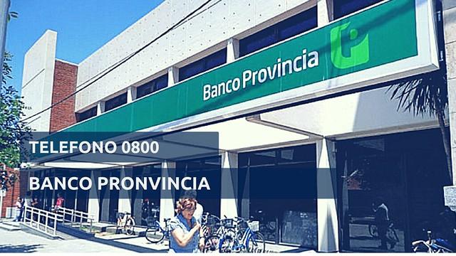 0800 telefono banco provincia