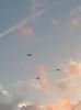 Biplane flyover