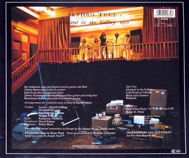 "Jethro Tull - Minstrel in the Gallery 12"" VInyl LP"